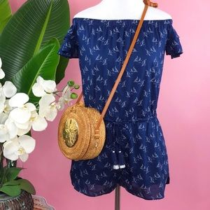 Vineyard Vines | Sailboat Print Deep Bay Romper